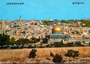 Israel Jerusalem Seen From Mount Olives 1972