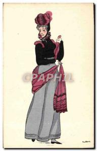 Old Postcard History of the French Empire Costume 1810