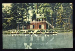 Amesbury, Massachusetts/MA/Mass Postcard, Powow Canoe Club, Tuxbury's Pond