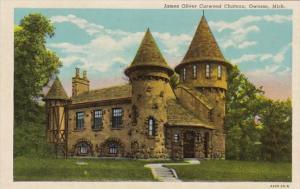 Michigan Owosso James Oliver Curwood Chateau 1951 Curteich
