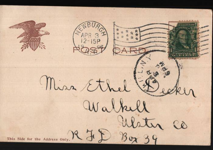 Newburgh Wallkill NY Flat Iron Building NYC Ethel Decker Vintage Postcard B06