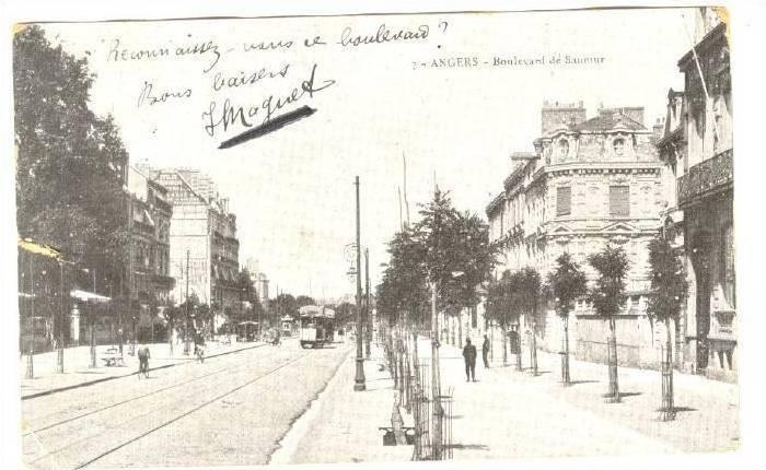 Angers (Maine-et-Loire), France, PU-1907, Boulevard de Saumur