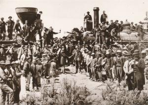 East Meets West Transcontinental Railroad Completed - Western USA - Recent Print