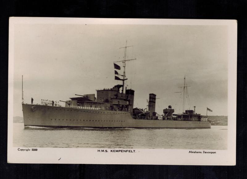 Mint RPPC Postcard Warship British England Navy HMS Kempenfelt