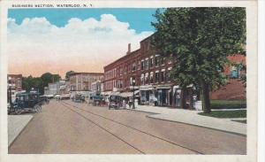 Business Section, Partial Street View, Waterloo, New York, 1910-1920s