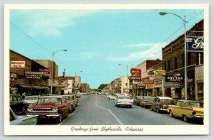 Blytheville AR~Main Street~Western Auto~Ritz Theatre: Pat Boone State Fair~1962