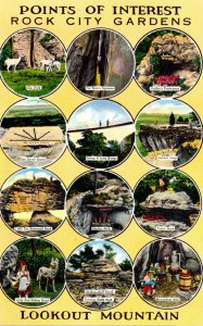 Tennessee Chattanooga Lookout Mountain Rock City Gardens Points Of Interest