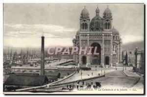 Postcard Old Marseille and La Cathedrale Joliette