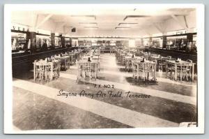 Smyrna Army Air Field TN~Post Exchange PX No 2~Cafe Soda Fountain~1944 WWII RPPC
