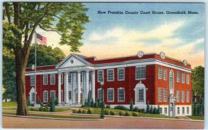 GREENFIELD, Massachusetts  MA  New FRANKLIN COUNTY COURT HOUSE  c1940s  Postcard