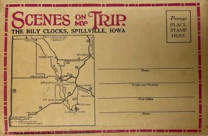 Scenes on my Trip - The Boy Clocks, Spillville, Iowa Postcard Book  20 Images