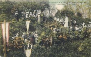 Sanctuaire de N. D. de Lourdes au Bouhay les Liege pilgrims procession 1911