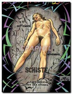 Postcard Modern Naked erotic Charles Berg Zodiac Etruscan Shale