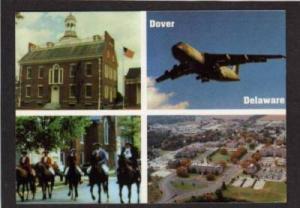DE Multi Views DOVER DELAWARE Postcard PC Horses Plane
