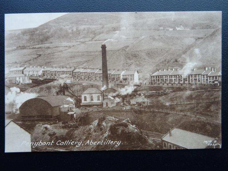 Monmouthshire ABERTILLERY COLLIERY Penybont c1908 Postcard by M.J.R. B 6021