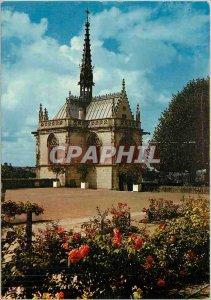 Postcard Modern Amboise La Chapelle St Hubert in the Parc du Chateau