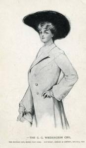 The G. G. Wiederseim Girl      Artist Signed: G. G. Wiederseim