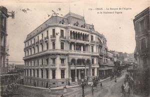 Algeria Oran La Banque de l'Algerie et le Boulevard Seguin