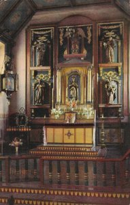 CALIFORNIA, 1940-60s; San Gabriel Mission Altar, Statue of Blessed Virgin