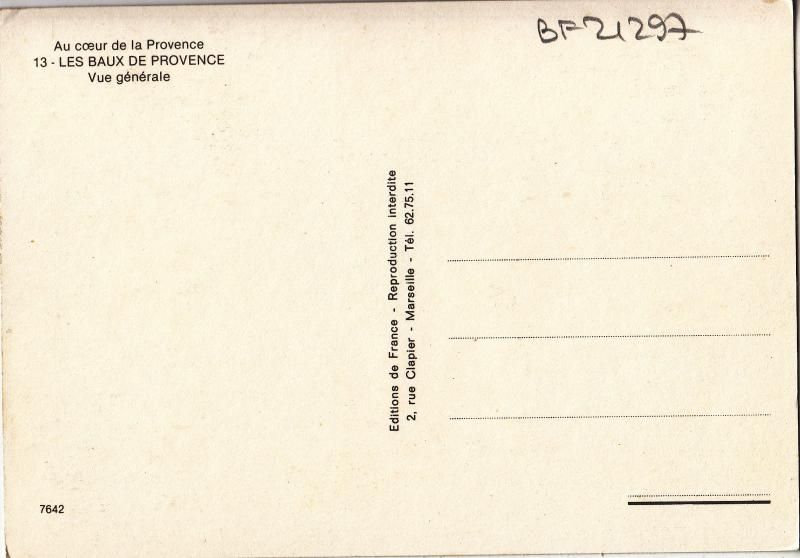 BF21297 les baux de provence vue geenrale  france  front/back image