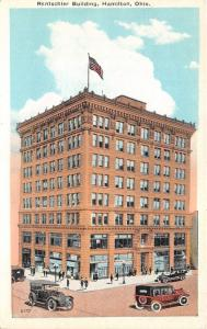 Hamilton Ohio~Rentschler Building~Vintage Cars in Street~People Shopping~1920s