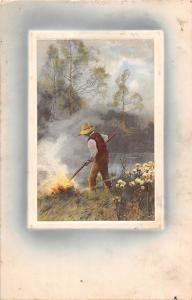 Art, Embossed: In der freien Natur Meissner & Buch, Leipzig Kuenstlerkarte