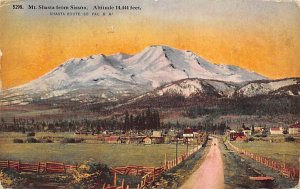 Mt. Shasta from Sisson Shasta Route, So. Pac. R R CA Train 1914