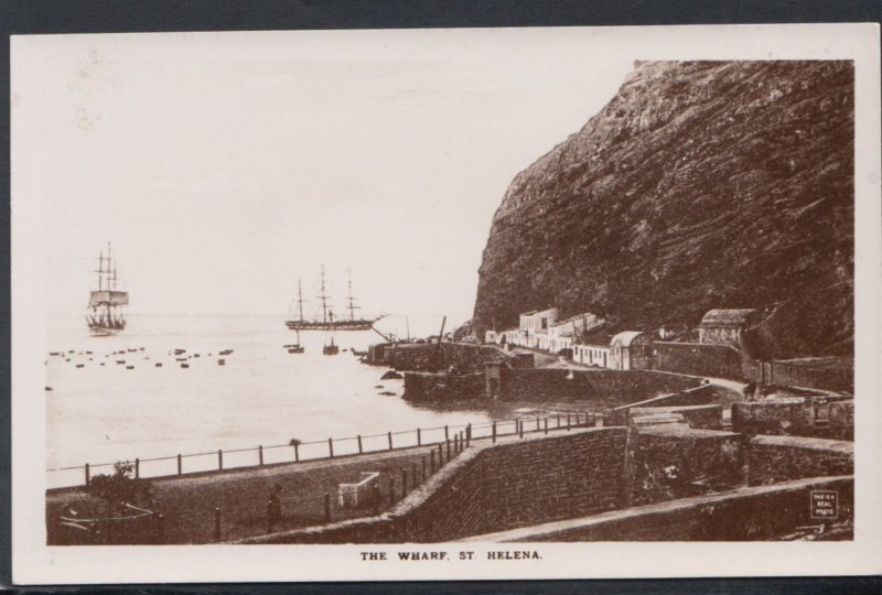 St Helena Postcard - Warships, The Wharf, St Helena, Ascension and Tristan da...