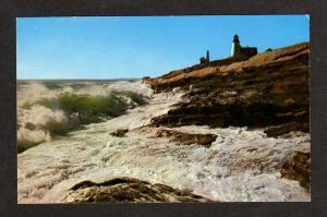 ME View Pemaquid Point Light Lighthouse Maine Postcard PC Carte Postale