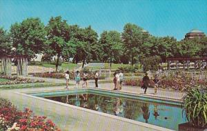 Canada La Jardin Botanique De Montreal Botanical Garden Of Montreal With Pool...