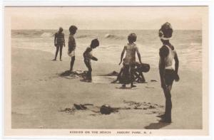 Kiddies on the Beach Children Playing Asbury Park New Jersey postcard