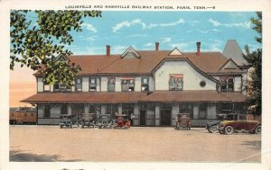 LP22 Paris   Tennessee Postcard Louisville Nashville Railway Station Depot