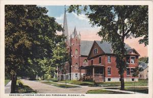 Pennsylvania Ridgway Swedish Lutheran Church and Parsonage Curteich