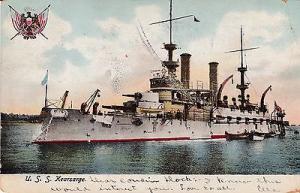 Postcard, USS Kearsarge BB5, used at Philadelphia, 1906