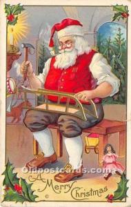 Santa Claus Postcard Old Vintage Christmas Post Card 1912