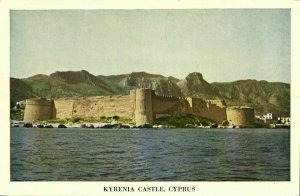 cyprus, KYRENIA, Castle View from the Water (1950s) Postcard