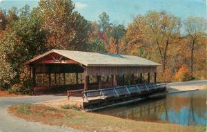 Covered Bridge David Crockett State Park Lawrenceburg Tennessee TN 1966 Postcard