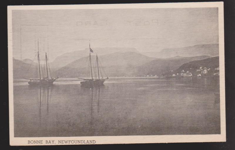 Fishing Schooners In Bonne Bay, Newfoundland 1940s - Unused