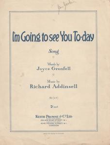 I'm Going To See You Today Joyce Grenfell 1950s Sheet Music