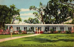 Florida Orlando Sanlando Springs Tropical Park 1956 Curteich