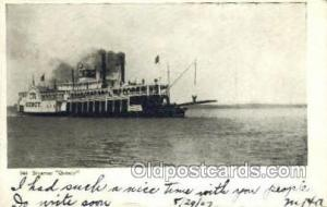 Quincy Steamer, Steam Boat, Steamboat, Ship, Ships, Postcard Post Cards  Quincy