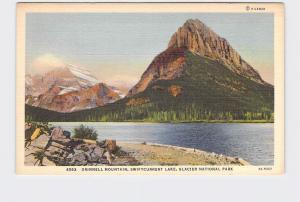 VINTAGE POSTCARD NATIONAL STATE PARK GLACIER GRINNELL MOUNTAIN SWIFTCURRENT LAKE