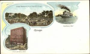 Chicago IL Multi-View c1900 Private Mailing Card #4 EXC COND
