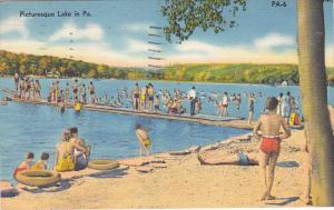 Picturesque Lake In Pennsylvania 1960