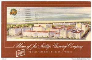 Beer - Jos. Schlitz Brewing Company - Milwaukke WI - pu 1953