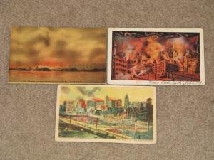 The Trail of the Earthquake, San Francisco, 1906, 3 different cards