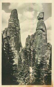 Postcard Czech Republic Adraspasske skaly