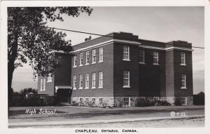 RP: CHAPLEAU , Ontario , 1920-40s ; High School
