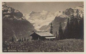 Fiescherwand Hurtenbuhl Swiss Old Postcard