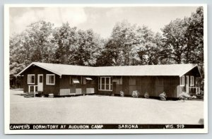 Sarona Wisconsin~Audobon Camp~Camper's Dormitory~Front Back Porch~1950 RPPC